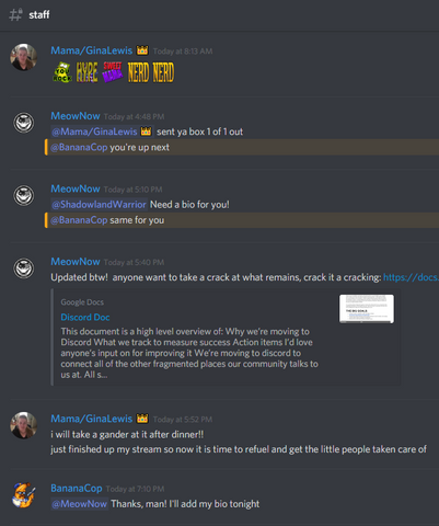 Discord Snippet
