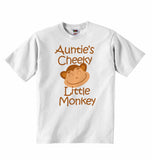 Auntie's Cheeky Little Monkey - Baby T-shirt