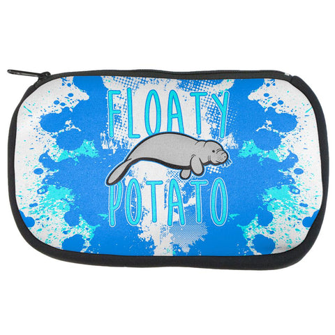 Floaty Potato Manatee Funny Grunge Splatter Makeup Bag