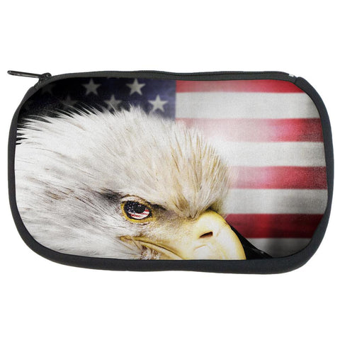 4th of July American Bald Eagle Eye Flag Travel Bag