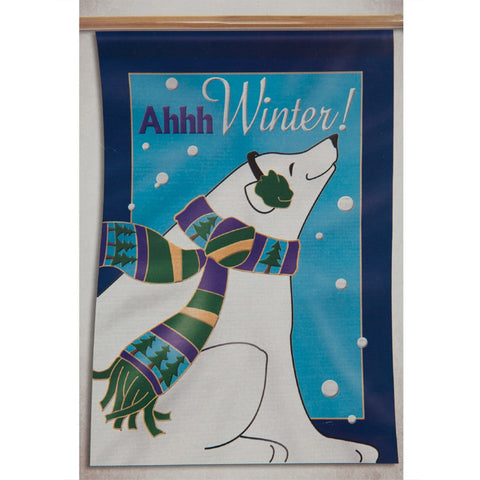 "Polar Bear Peace on Earth 12"" x 18"" Garden Flag"