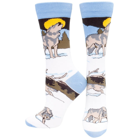 Timber Wolves Howling Women's Socks