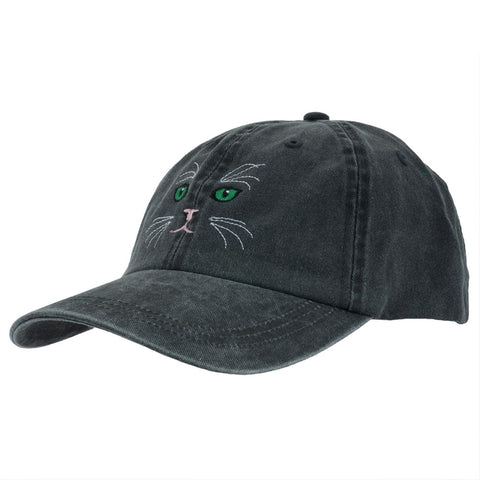 Cat Face Adjustable Baseball Cap