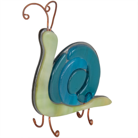 Snail Fused Glass Figurine