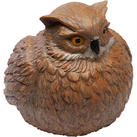 Portly Owl Medium Figurine and Keykeeper