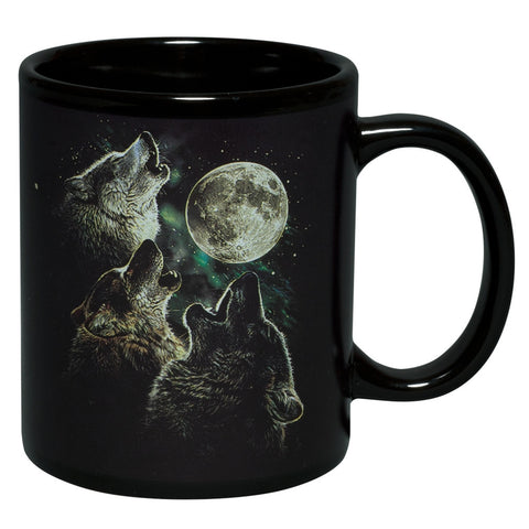 3 Wolves In Moonlight Coffee Mug