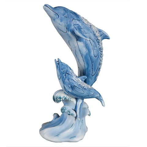 Dolphin Mom and Baby Bejeweled Figurine