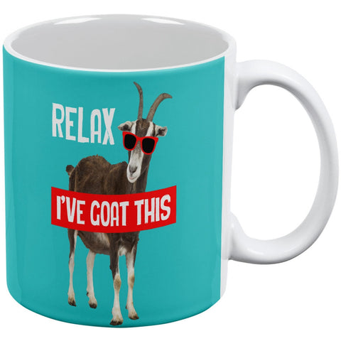 Relax I've Goat This White All Over Coffee Mug
