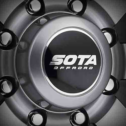 8 Lug Anthra-Kote (Anthracite) Two-Piece Short Cap 130mm Bore