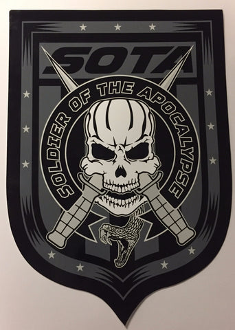 "Soldier Of The Apocalypse ""Skully"" Sticker"