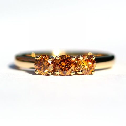 Lila Handmade Orange Diamond Ring - Exclusive Diamond Co