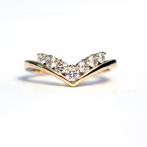 Olive Pointed White Diamond Ring - Exclusive Diamond Co