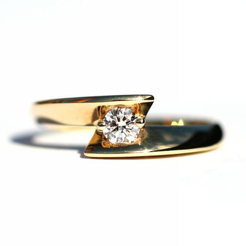 Prairie Encased White Diamond Ring - Exclusive Diamond Co