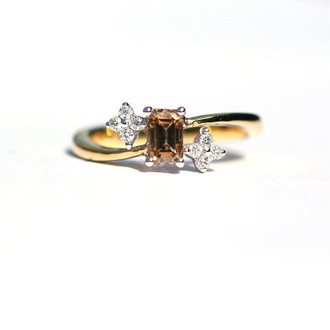 Sadie Cognac & White Diamond Ring - Exclusive Diamond Co