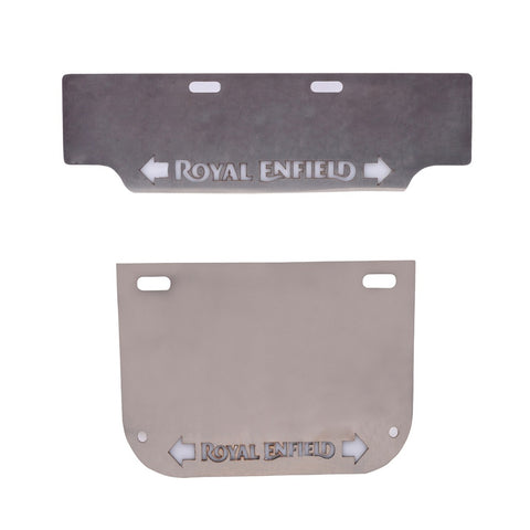 R.J.VON - Stainless Steel Number Plate With Inbuilt Indicator
