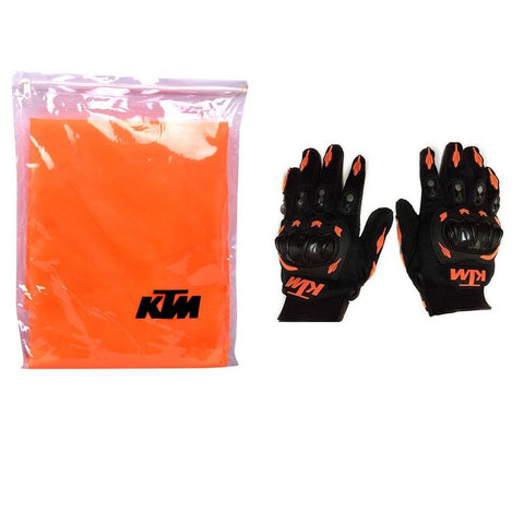 R.J.VON - Premium Quality Bike Body Cover  With KTM Gloves