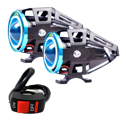 R.J.VON -U 11 LED Super Bright Double Ring Strip Fog Lamp 15 W (Pack of 2)