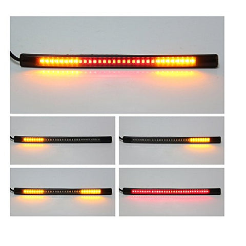 R.J.VON - Bike Flexible Led Strip Tail Light Brake Light With Turn Signal Universal