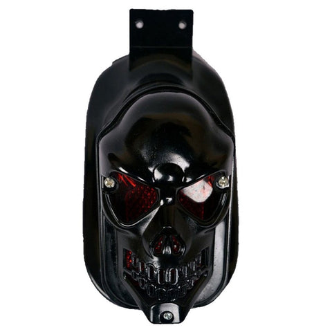 R.J.VON - Rear Customized Skull Face Brake Led Tail Light Black