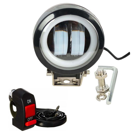 R.J.VON -2 Led Fog Light With Blue Ring 20 W (Pack of 1 Pcs)