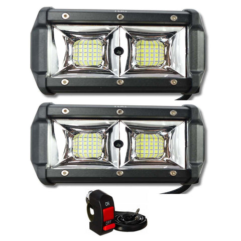 R.J.VON -Bike Led Fog Light Small 32 LED 96 w (Pack of 2 Pcs)