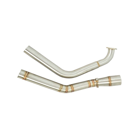 R.J.VON Mid Bend Link Bend Pipe For Yamaha r15 v3 Stainless steel.