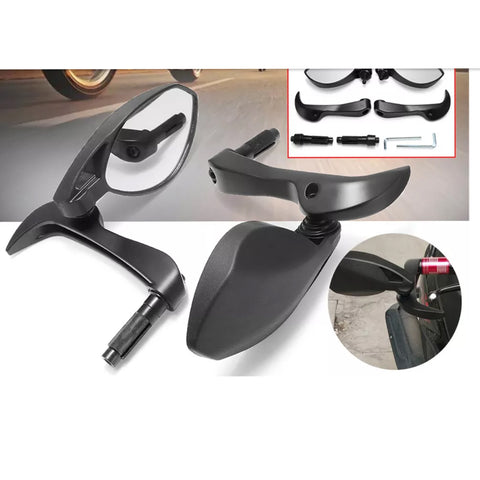 R.J.VON Handguard Protector With Side Mirrors for All Motorcycles - Set of 2