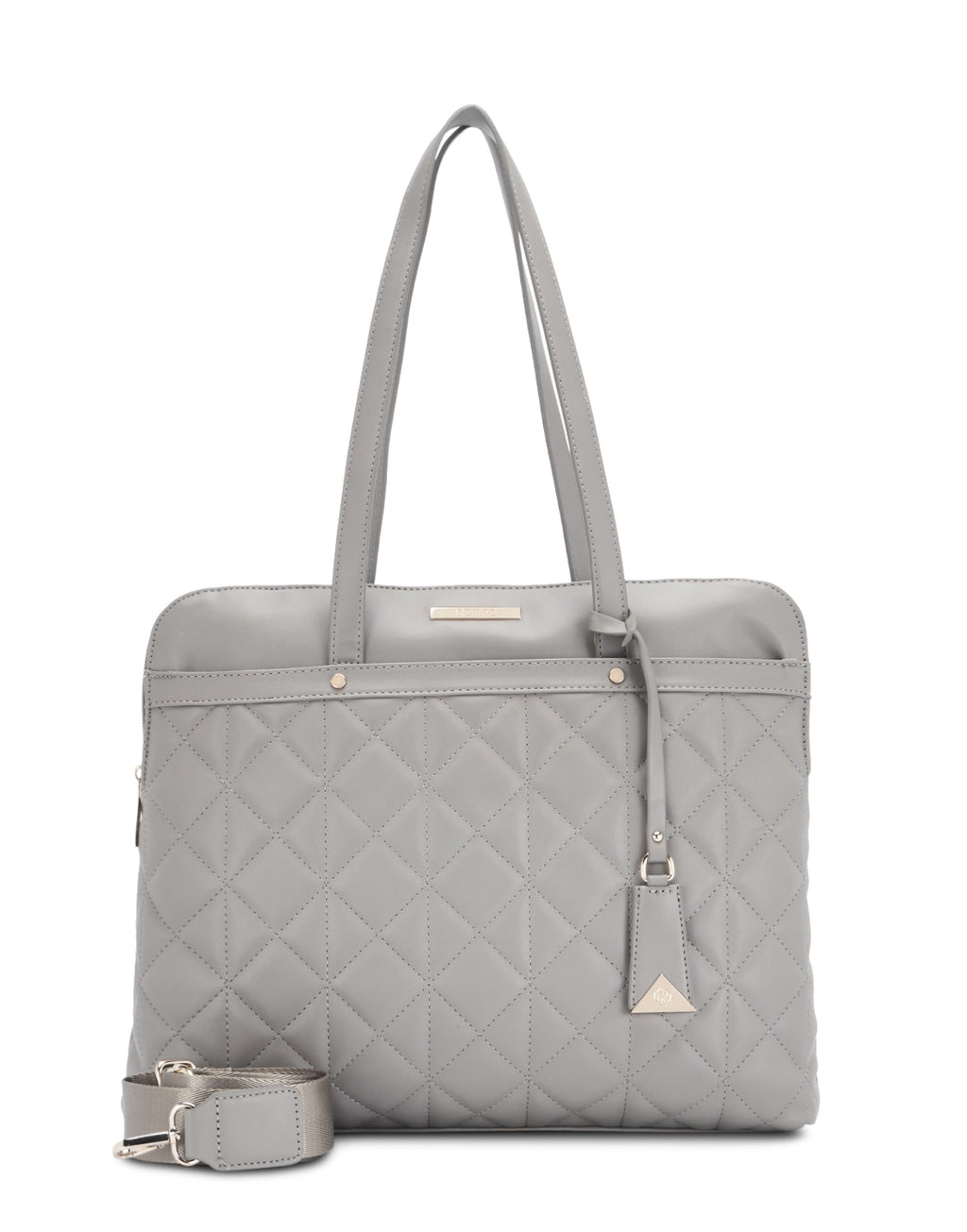 Chantae Quilted Grey Laptop Bag