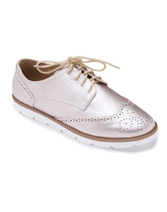 Gold Brogue Sneakers