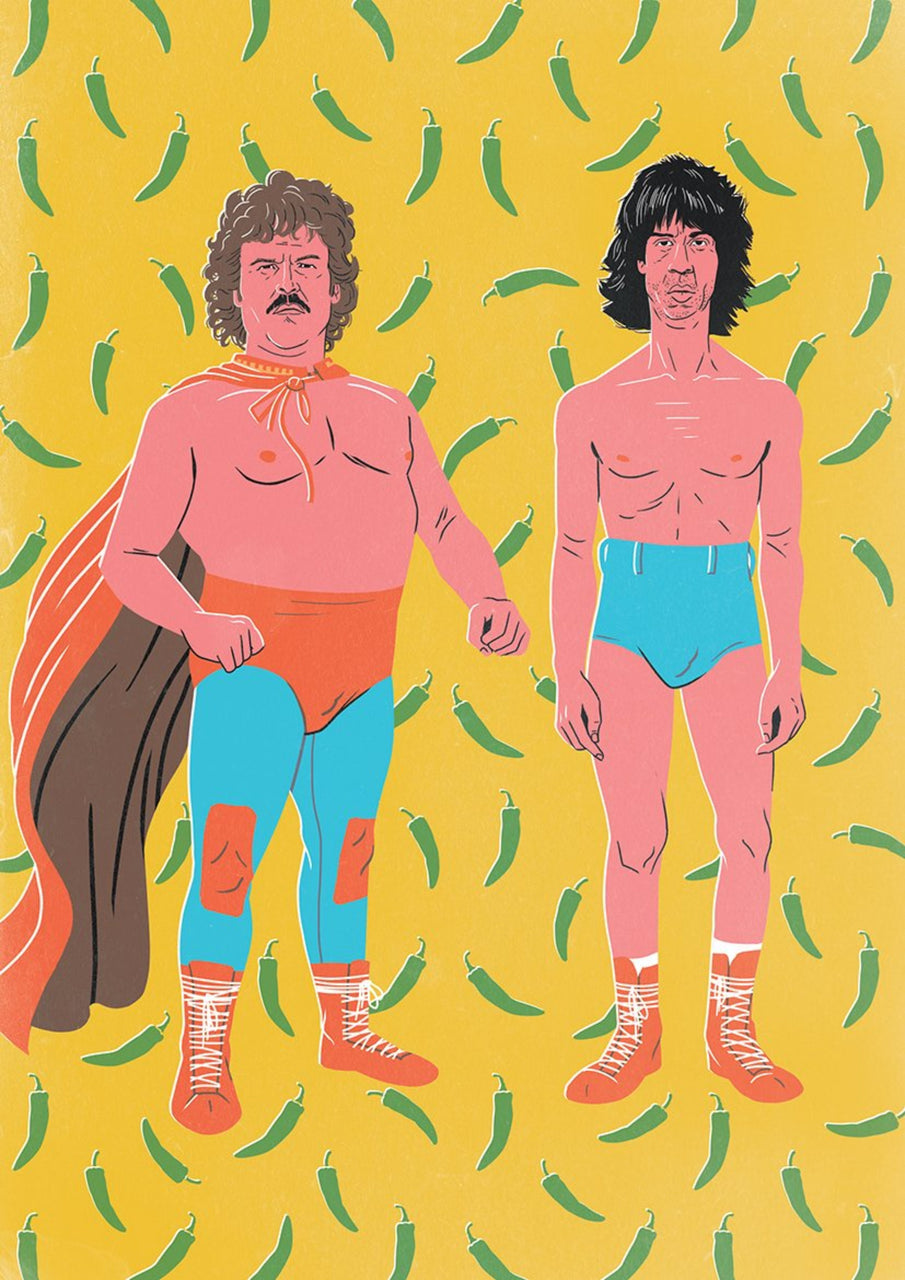 15% OFF SPRING SALE | Nacho Libre, The Bromance Series || A3 Original Illustration Poster, Digital Print