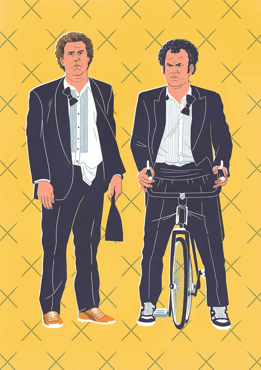 15% OFF SPRING SALE | Step Brothers, The Bromance Series || A3 Original Illustration Poster, Digital Print