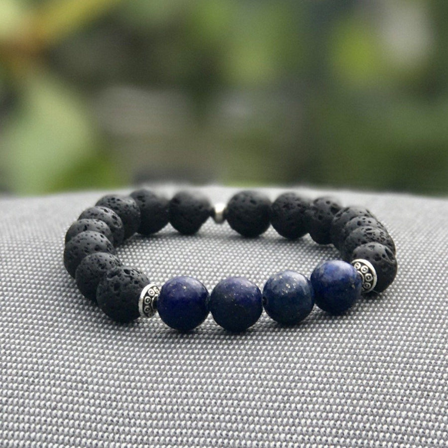 Gravity Men Gemstone Bracelet - Blue, Manipura - Handmade in Amsterdam