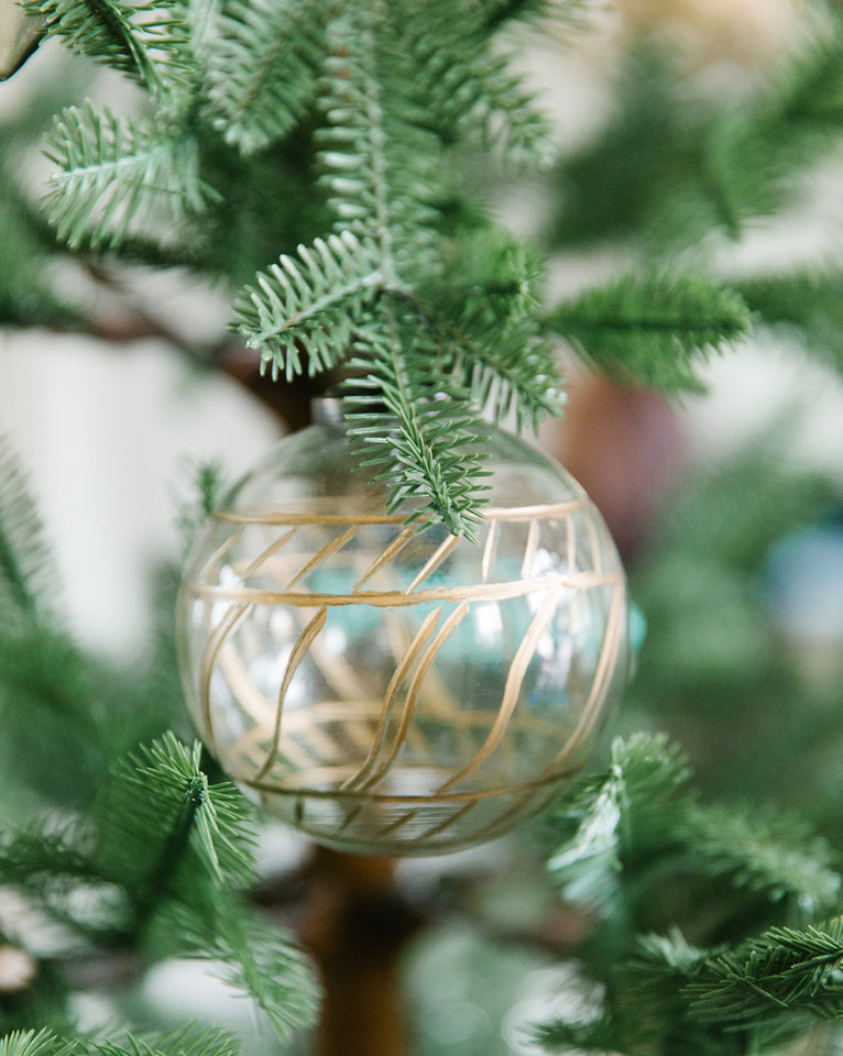 Etched Mercury Ball Ornaments (Set of 2)