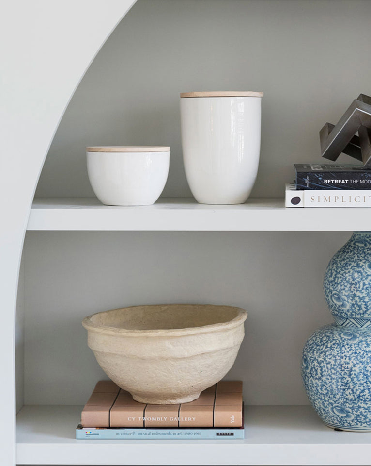 Paper Mache Bowl and 25 Beautifully Handmade Decor Finds for Home to help you feather your nest and also inspire your interior design schemes.