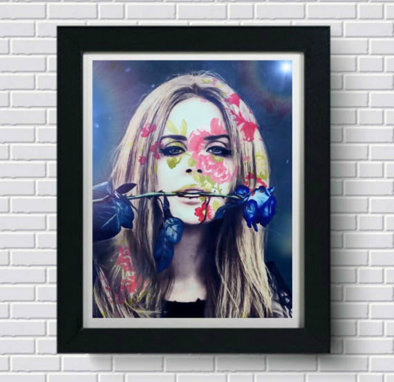Lana Del Rey Wall Art Artwork Canvas Poster Art Print