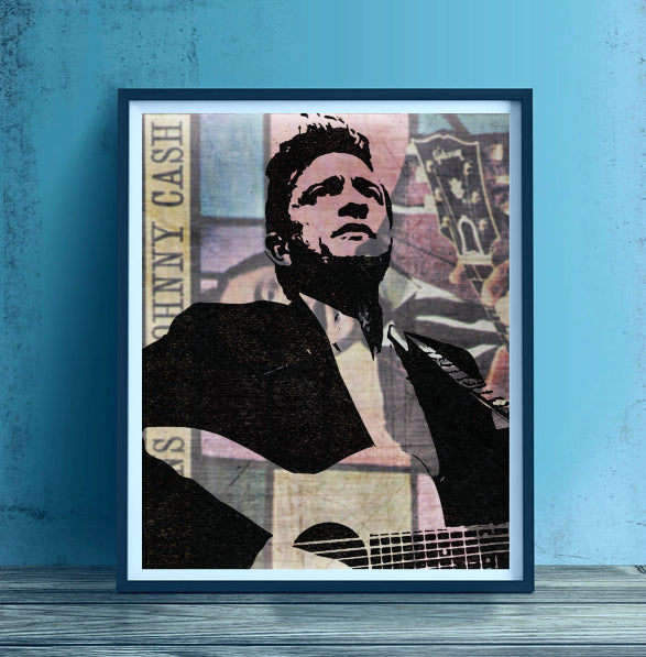 Johnny Cash Artwork by Lisa Jaye