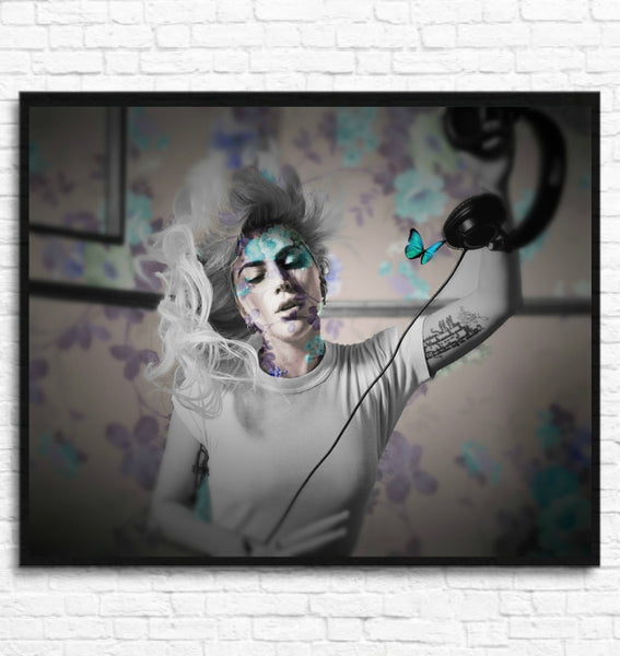 Lady Gaga Wall Art Artwork Canvas Poster Art Print