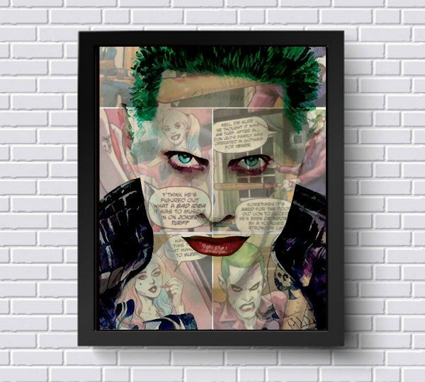 Jared Leto Joker Wall Art by Lisa Jaye