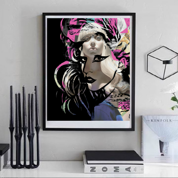 Lady Gaga Art Print, Wall Art, Poster, Artwork, Canvas