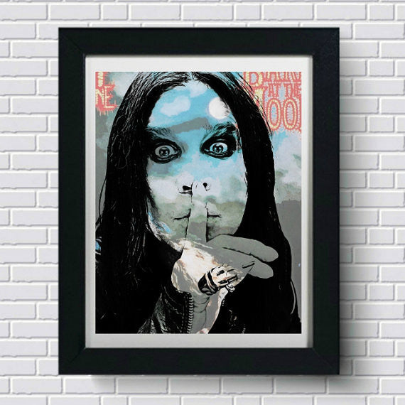 Ozzy Osbourne Wall Art by Lisa Jaye