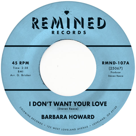 "<b>Barbara Howard </b><br><i>I Don't Want Your Love</i><br><span style=""color: #ff0000;"">Release Date: 8/23/19</span>"