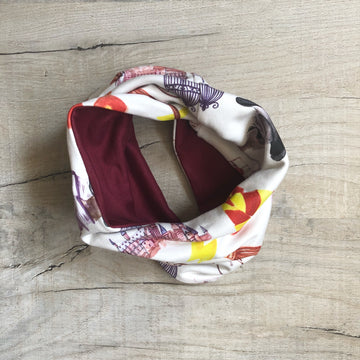 Swish and Flick Printed Snood