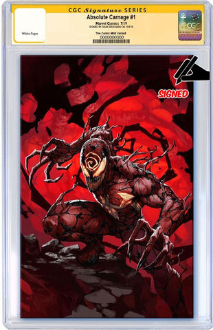 ABSOLUTE CARNAGE #1 SKAN SRISUWAN VIRGIN LIMITED TO 600 CGC SS PREORDER