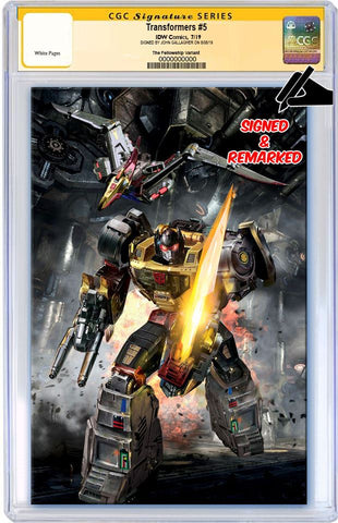TRANSFORMERS #5 JOHN GALLAGHER ROBOT GRIMLOCK VIRGIN VARIANT LIMITED TO 600 CGC REMARK PREORDER