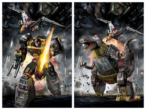 TRANSFORMERS #5 JOHN GALLAGHER ROBOT/DINOSAUR GRIMLOCK VIRGIN VARIANT SET LIMITED TO 300 SETS