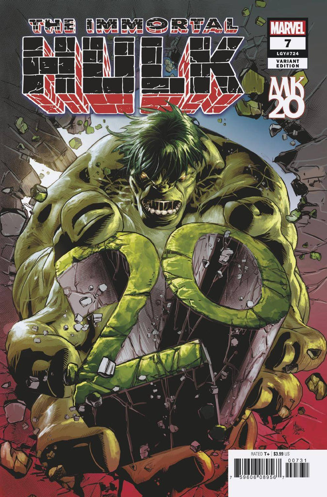10/10/2018 IMMORTAL HULK #7 MK 20 VARIANT RED CAP ERROR VERSION