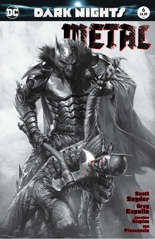 DARK NIGHTS METAL #6 GABRIELE DELL'OTTO B&W VARIANT
