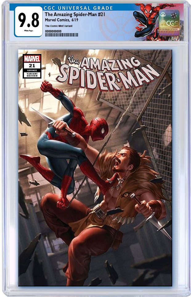 AMAZING SPIDER-MAN #21 JUNGGEUN YOON TRADE DRESS VARIANT LIMITED TO 1000 CGC 9.8 SPIDERMAN LABEL PREORDER