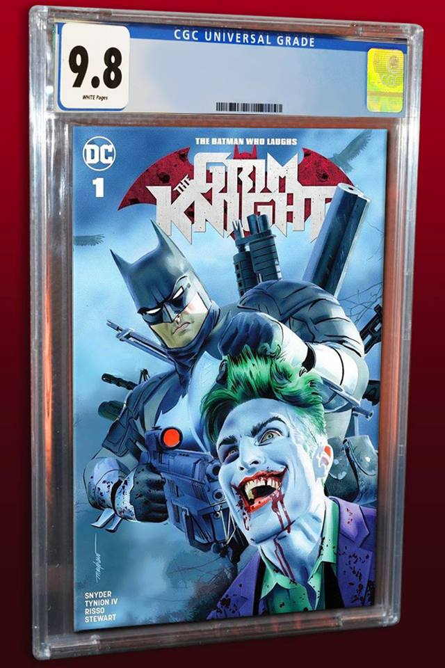BATMAN WHO LAUGHS THE GRIM KNIGHT #1 MIKE MAYHEW TRADE DRESS VARIANT LIMITED TO 1500 CGC 9.8 PREORDER