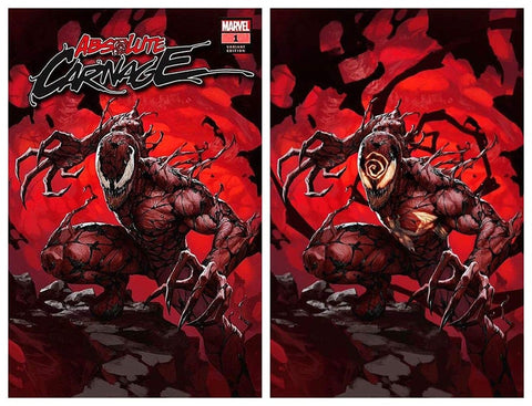 ABSOLUTE CARNAGE #1 SKAN SRISUWAN TRADE DRESS/VIRGIN SET LIMITED TO 600 SETS (WITH FREE CULT OF CARNAGE SKAN TRADE DRESS)